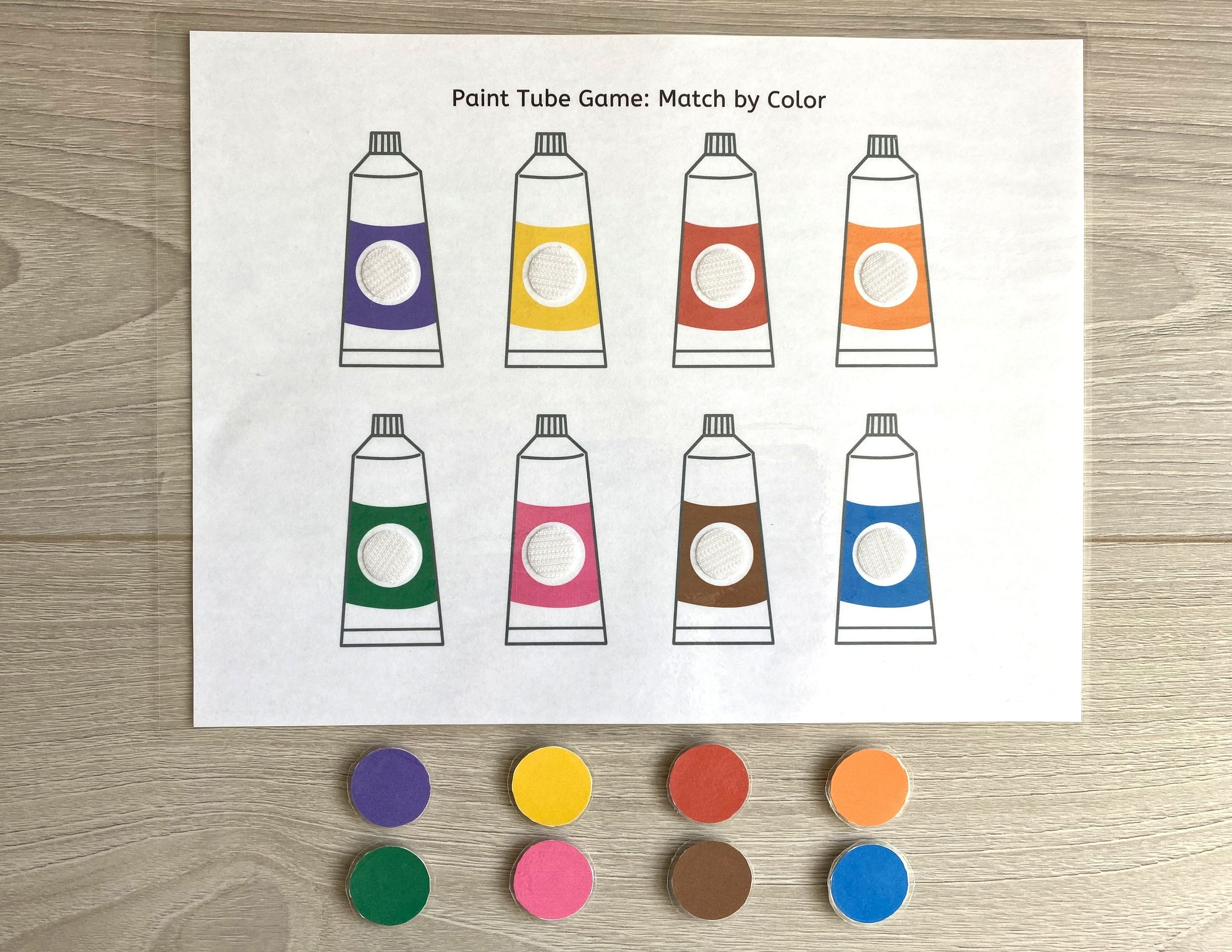 Match By Color Worksheet Busy Book Pages Preschool Busy Etsy In 2021 Busy Book Homeschool Worksheets Color Worksheets [ 2318 x 3000 Pixel ]