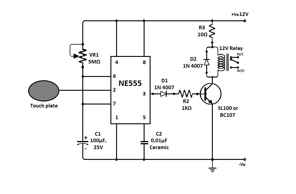 simple touch sensitive switch circuit jpg  989 u00d7648
