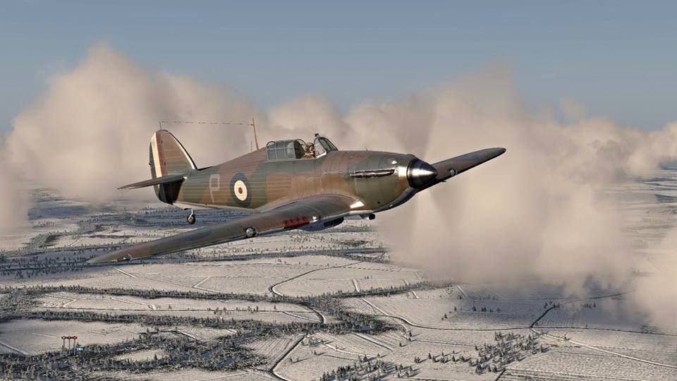 Hurricane No. 73 Squadron, France Winter 1939/40.