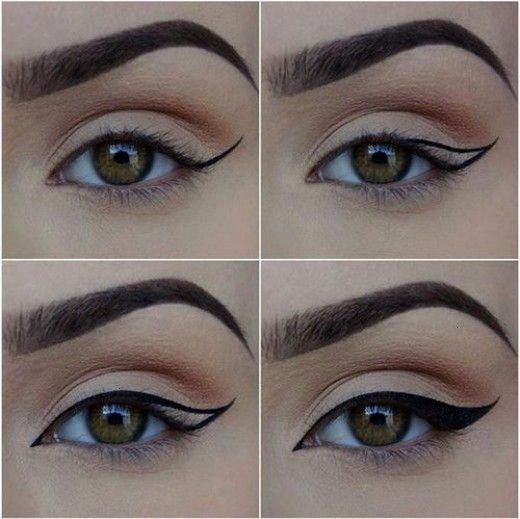 to Create the Perfect Winged Eyeliner -How to Create the Perfect Winged Eyeliner -  EYE BEAUTY HACK