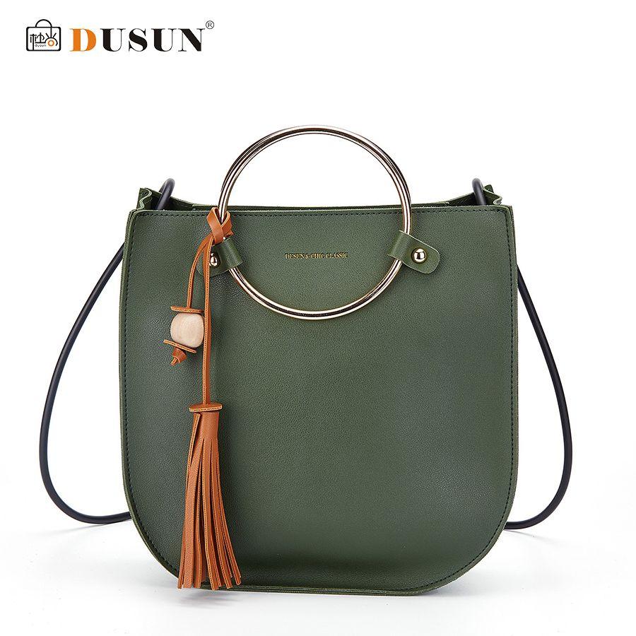 f45bdec10f75 Free Shipping  Buy Best DUSUN Women Ring Handle Tassel Handbag Woman ...
