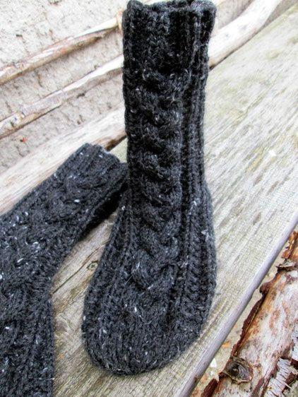 anleitung - wohlig, warme wintersocken | Anleitungen, Stricken und ...
