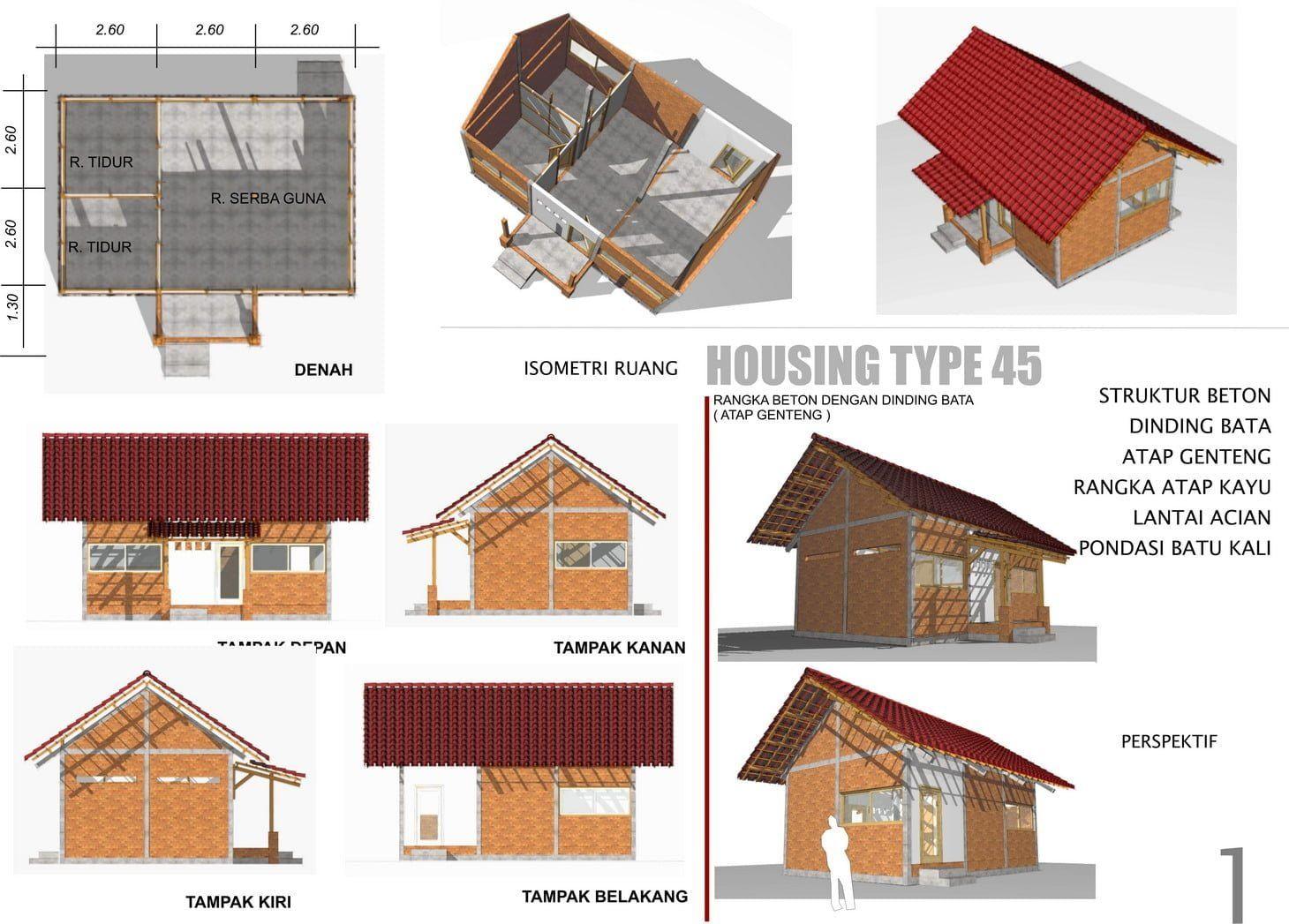 Desain Rumah Modern Tahan Gempa Desain Rumah Modern Gaya Rumah Rumah Modern