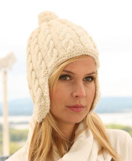 Схемы вязания шапок с ушами