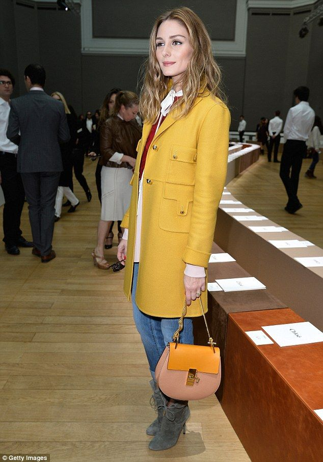 Olivia Palermo shines in bright yellow coat as she attends Chloe show #dailymail