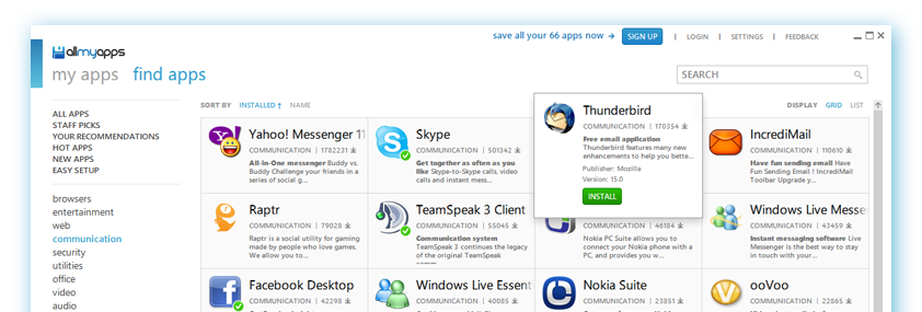 Allmyapps :: The PC App Store to Discover, Download & Update all