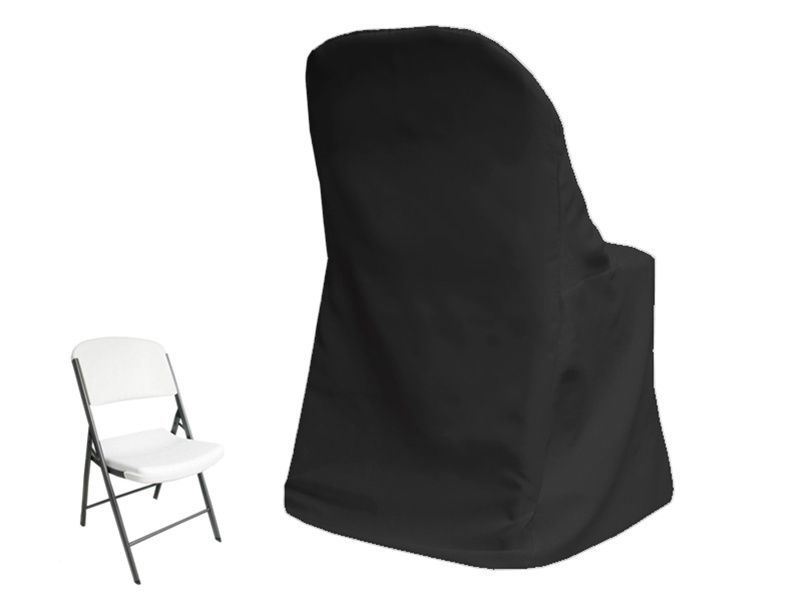 Black Lifetime Chair Covers Extra Large Lounge 50 X Folding Wedding Party Reception Decorations