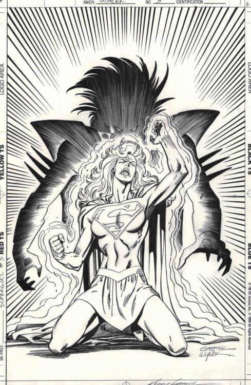 Supergirl Mini Series 3 Cover Comic Art Comic Art Art Comic Books Art
