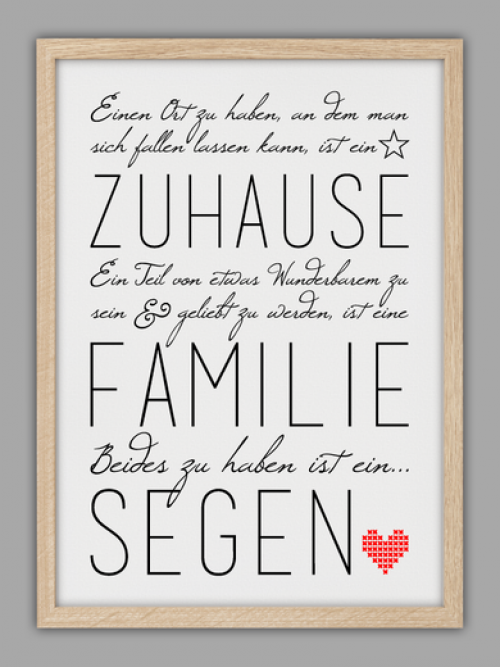 Schner Spruch Familie und Zuhause  Hochzeit Dani