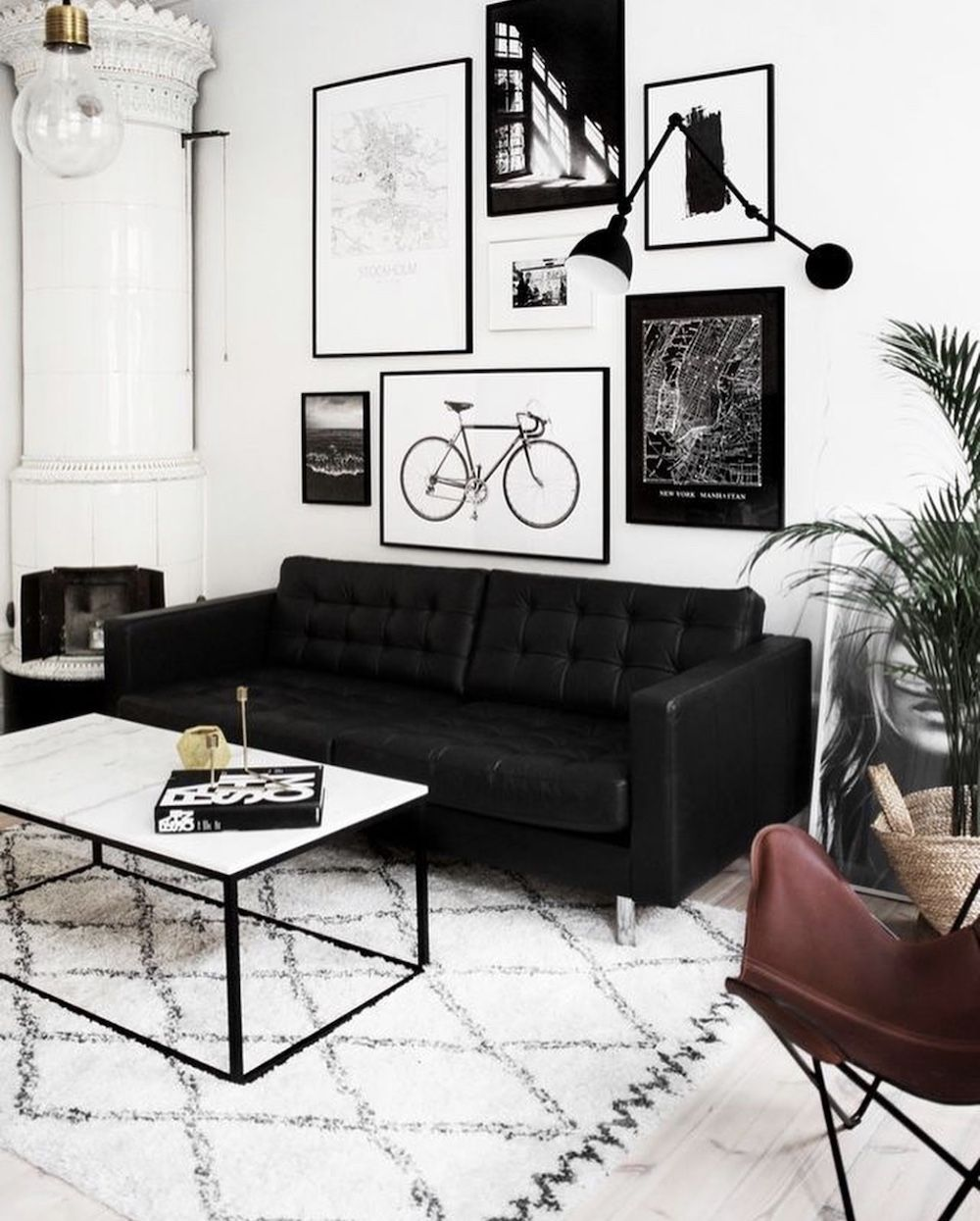 10 Black Sofas For A Dramatic Look White Living Room Decor Black Sofa Living Room Living Room White