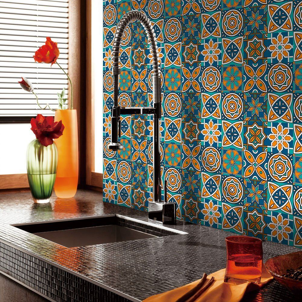 Vancore 500cm X 20cm Wall Tiles Sticker For Bathroom Kitchen Self Adhesive Wall Tiles Transfers Removable Wall Stickers Kitchen Tiles Deca Fliser Tapet Farger