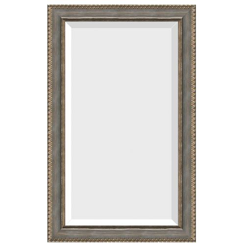 Pie Crust Silver Leaf 32-Inch Mirror
