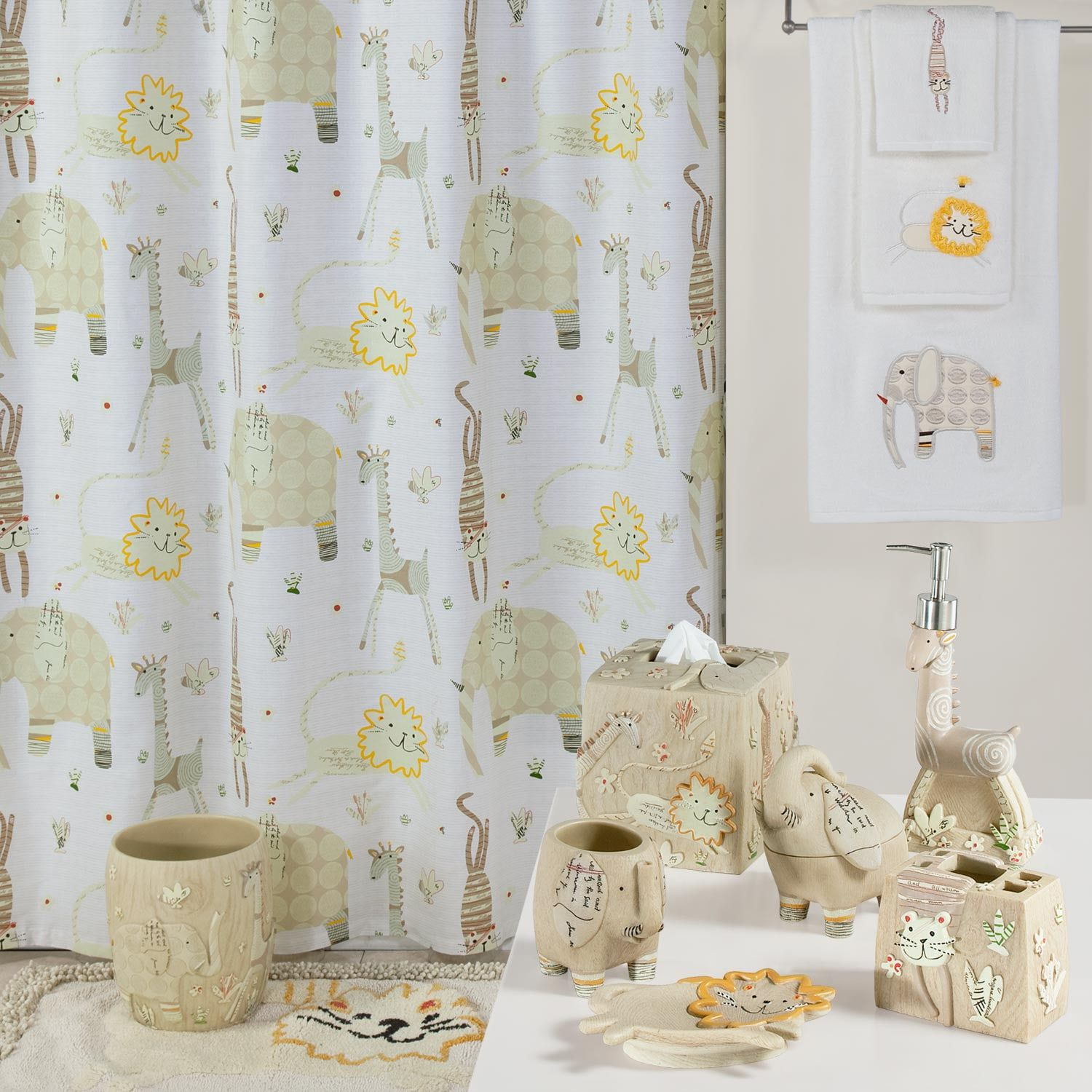 Creative Bath Animal Crackers Shower Curtain Collection Affiliate