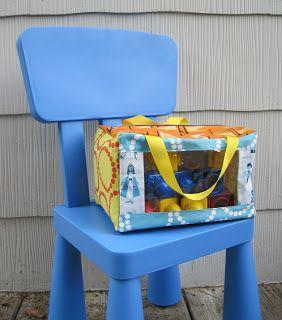 幼兒園玩具交換日,可用這個帶去。