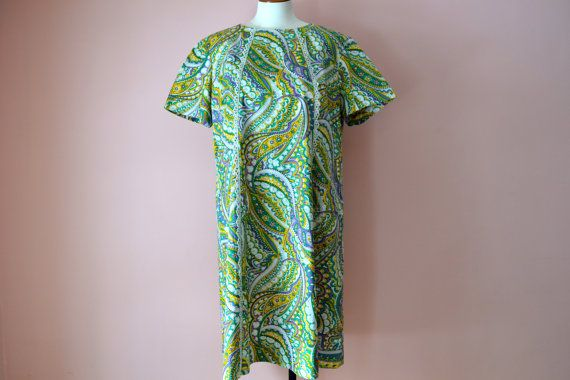 Psychedelic Trippy Shift Dress 1960's Paisley by LuckiestDuck1