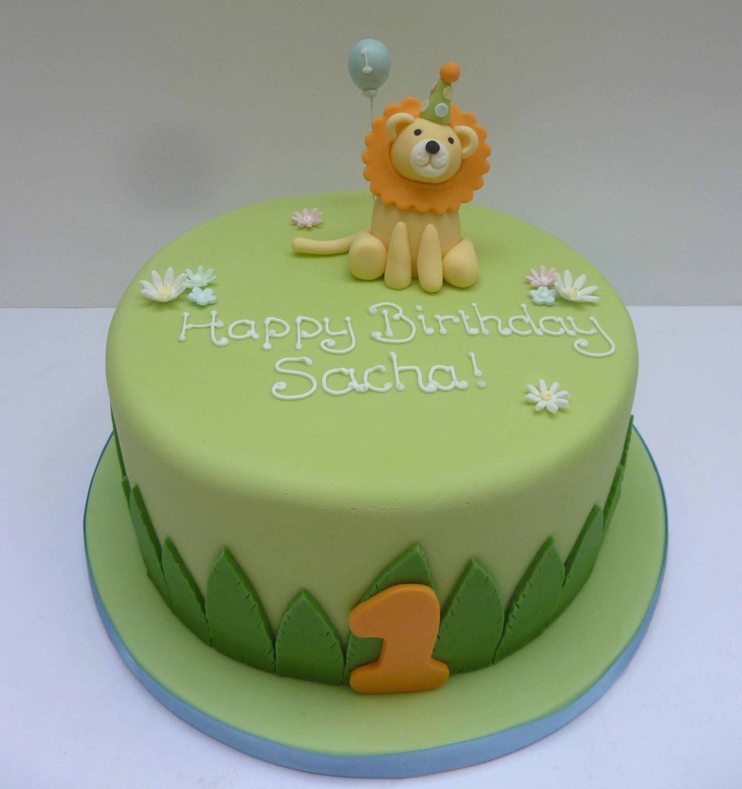 Lion 1st Birthday Cake Johns 1st birthday Pinterest Birthday