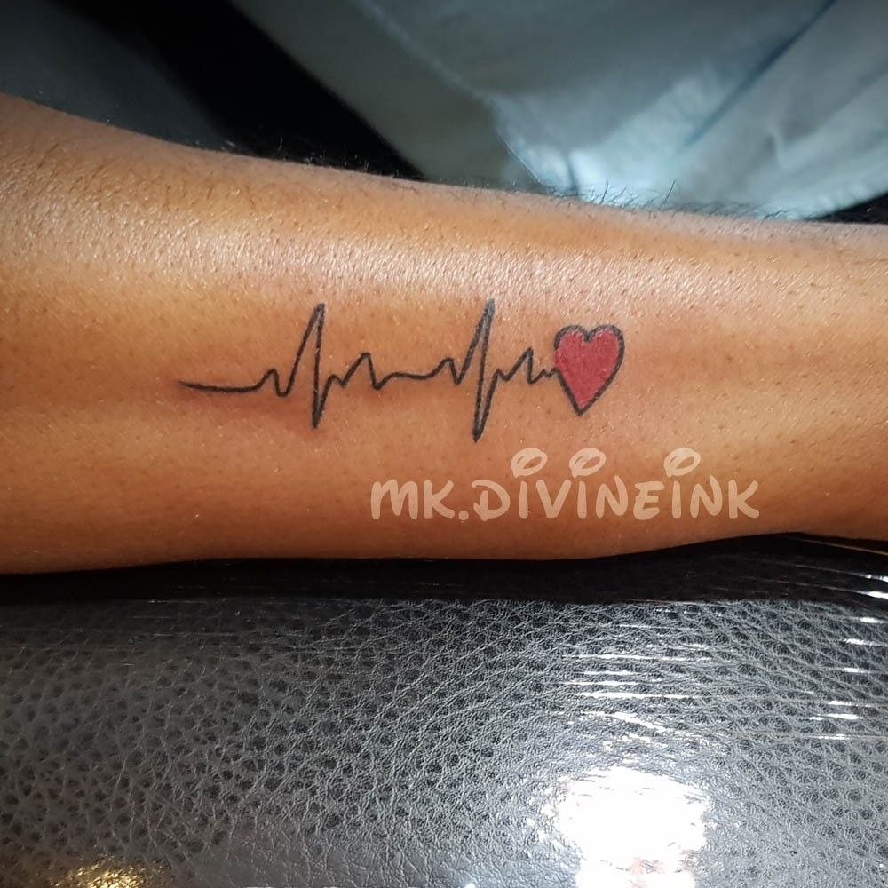 Pin On Heartbeat Tattoo Designs