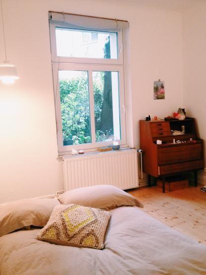 Schönes Altbau-Zimmer plus Wohnzimmer und Garten - WG Hamburg - wohnzimmer ideen altbau