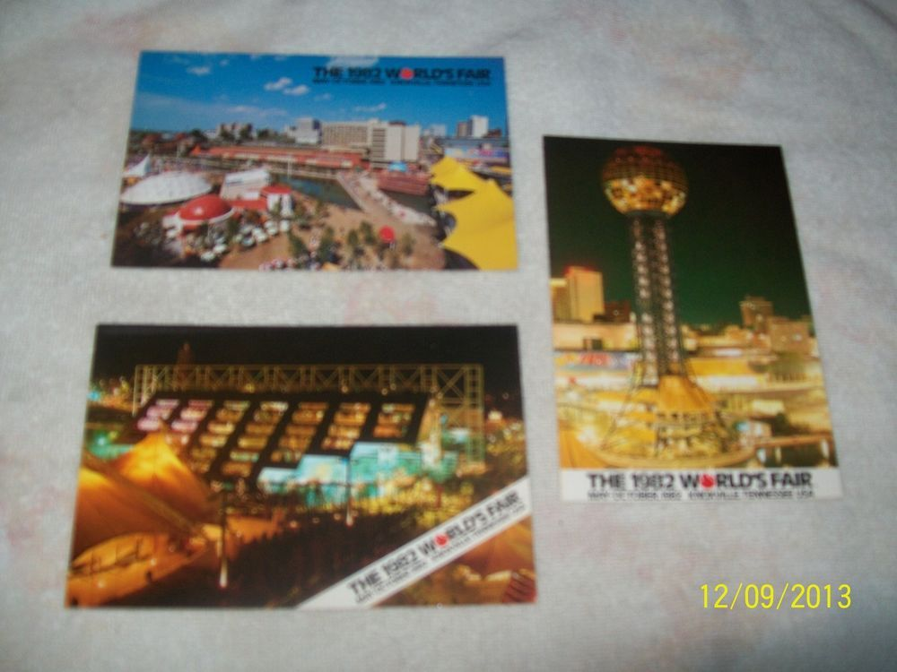 3 POSTCARD LOT-THE 1982 WORLD'S FAIR-KNOXVILLE,TN