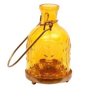 Yellow Glass Lantern – Buy Online   Tea Light Holders   Home Decor
