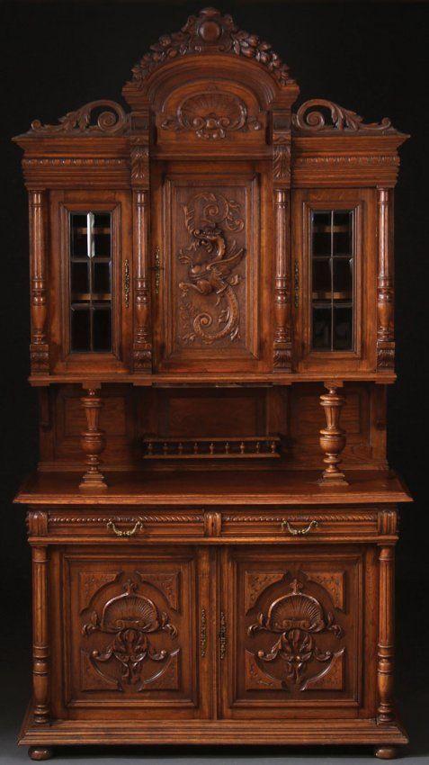 A Fine Renaissance Revival Carved Oak Sideboard Lot 842 Antique Furnitures Pinterest