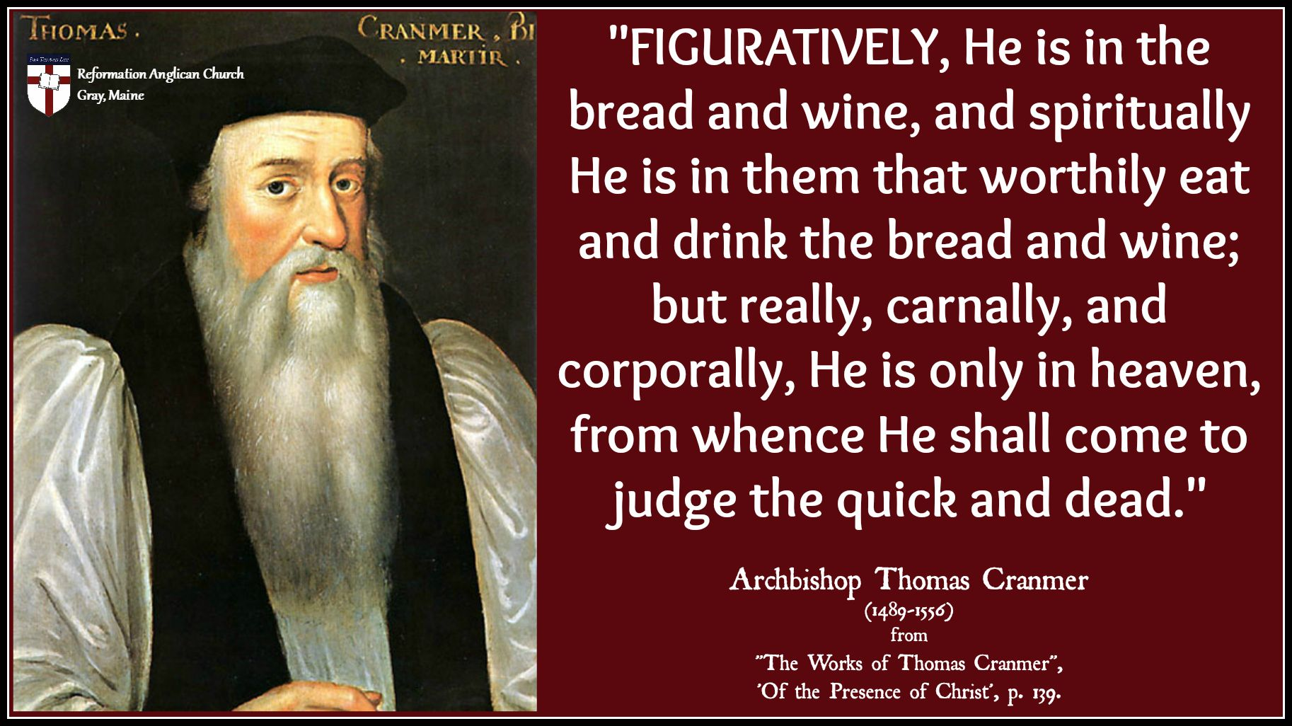 Thomas Cranmer On The Lord S Supper With Images Thomas Cranmer