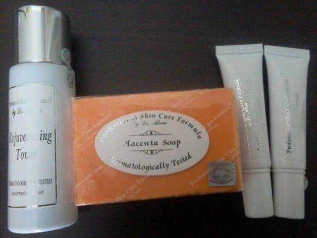Dr Alvin Placenta Set - Professional Skin Care Formula 100% Genuine Eco Lips - Gold USDA Certified Organic Lip Balm Unflavored - 0.15 oz.