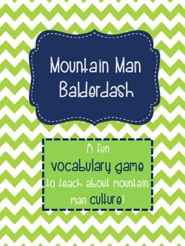 Teach about mountain man culture with this fun game!