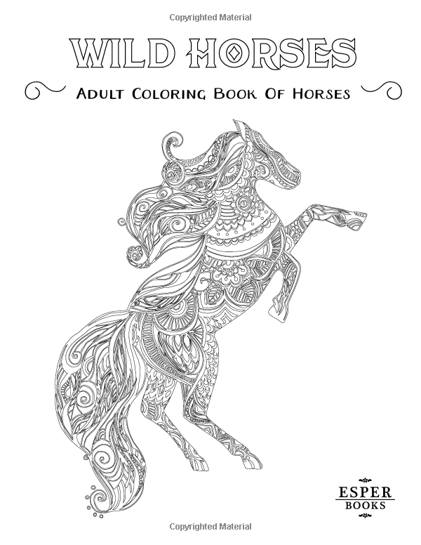wild horses an adult coloring book of horses