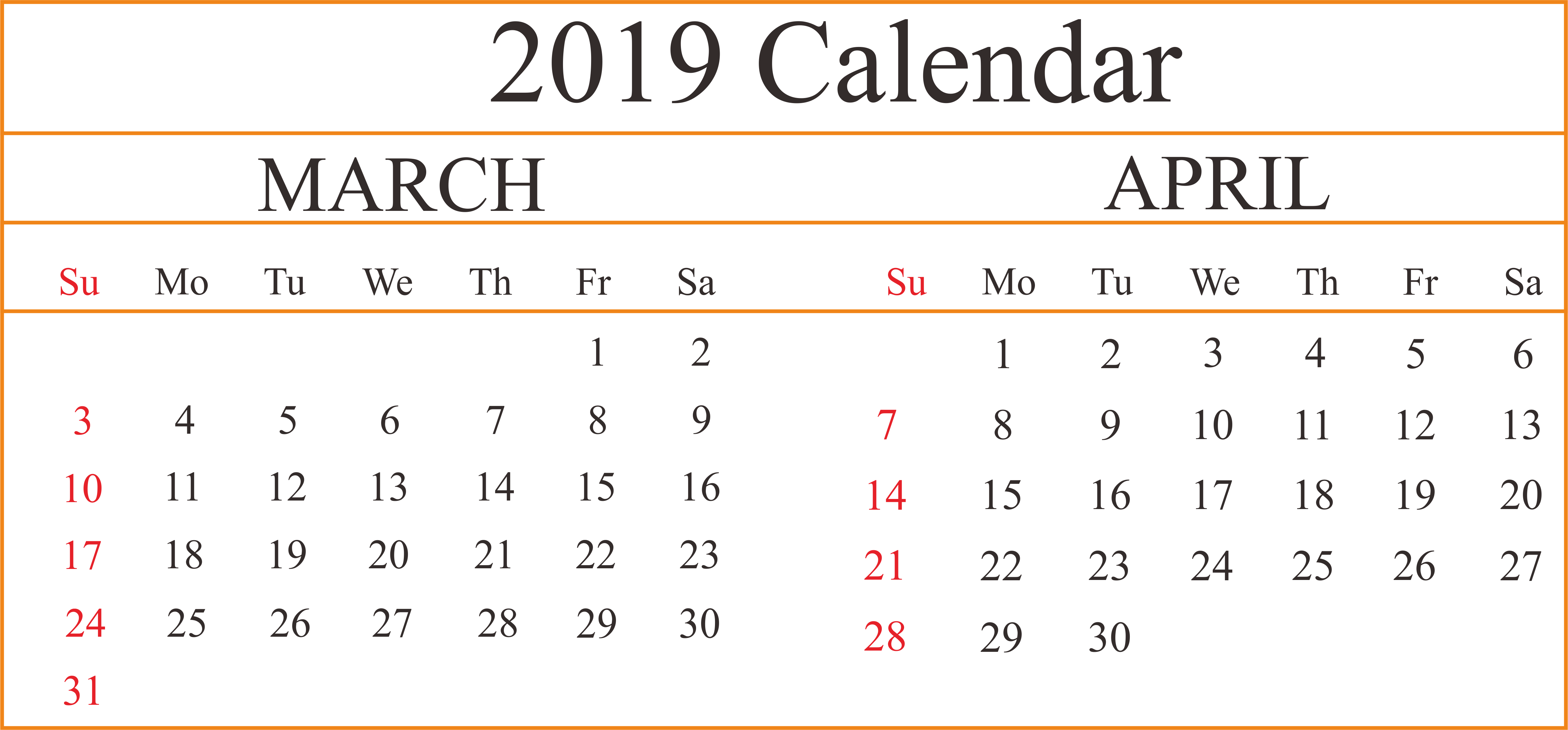graphic relating to Printable 2 Month Calendar called 2 Thirty day period March April Printable Blank Calendar #MarchCalendar