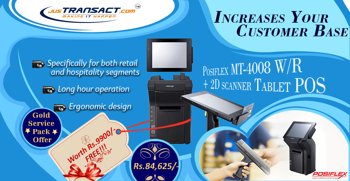 Create opportunities to engage with customers! Shop Posiflex MT-4008