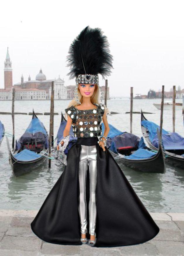 """Puppenkleidung - Barbiekleid Model """"Karneval Venice"""" ... - ein Designerstück von shopmauselke bei DaWanda"""