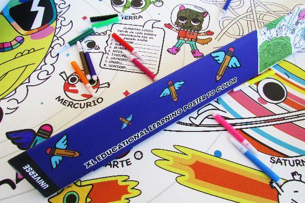 Póster XL educativo de Universo. La forma más divertida para que los niños aprendan sobre el Universo.