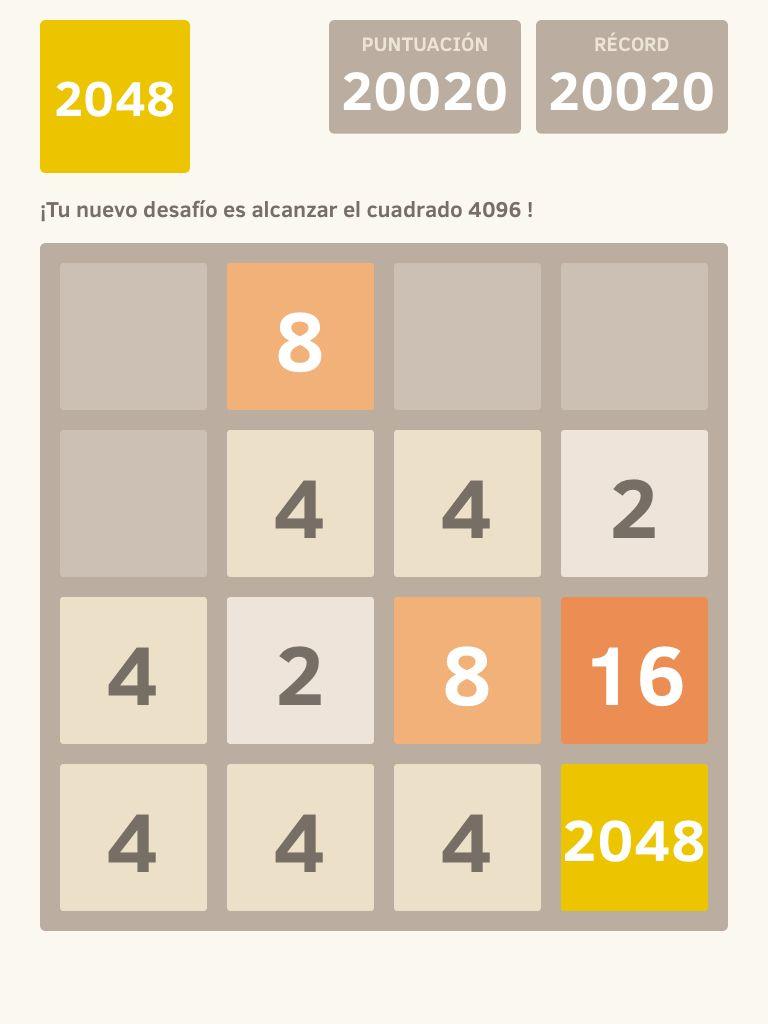 He obtenido el cuadrado 2048 en @2048_game ! https://itunes.apple.com/es/app/2048/id840919914