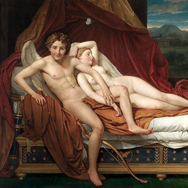 Discovering Art History On Instagram Cupid And Psyche 1817 By Jacques Louis David Oil On Canvas Cupid And Psyche Cleveland Museum Of Art Cleveland Museum