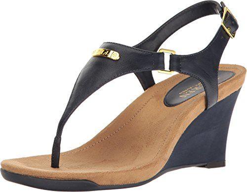880a972156 Lauren Ralph Lauren Womens Nikki in 2019 | Platform - Wedge Sandals | Shoes,  Platform wedge sandals, Wedge sandals