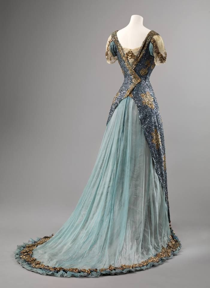 Sequin and Chiffon Ball Gown, ca. 1905-10 | Vintage Gowns ...
