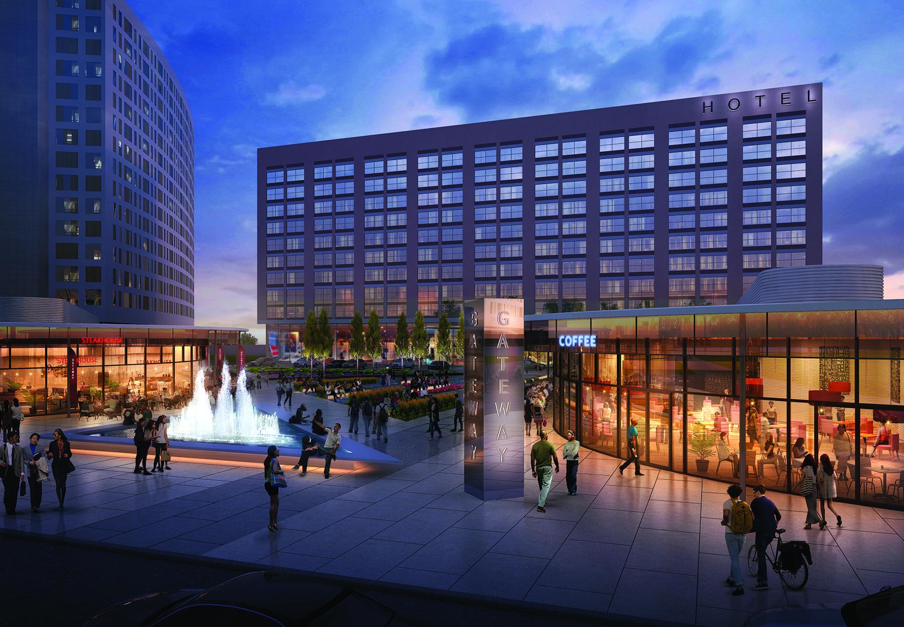 Illinois medical district gateway plaza rendering