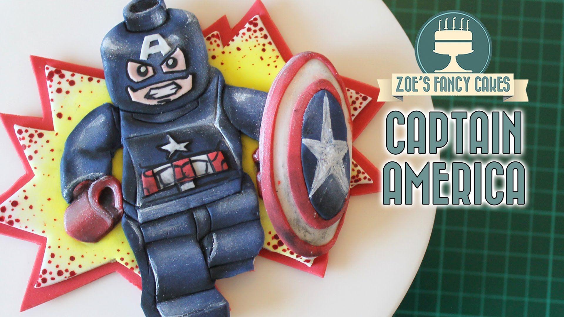 Captain America civil war cake topper lego Cake tutorials