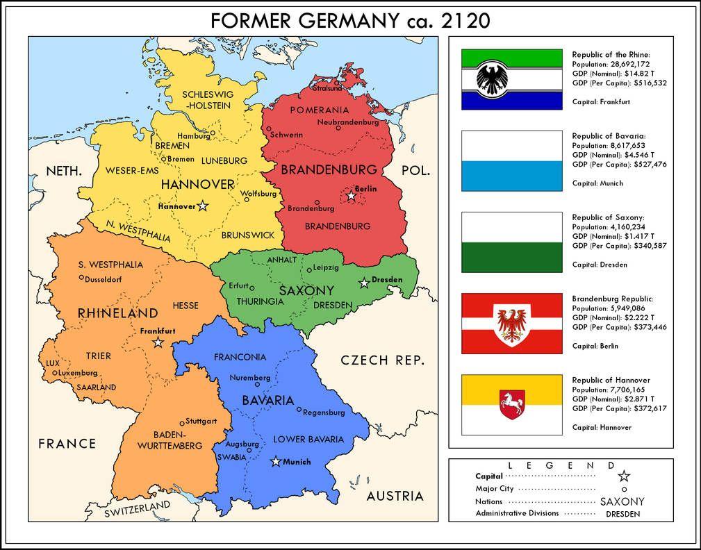 Germany Divided By Ynot1989 Germany Map Germany Alternate History