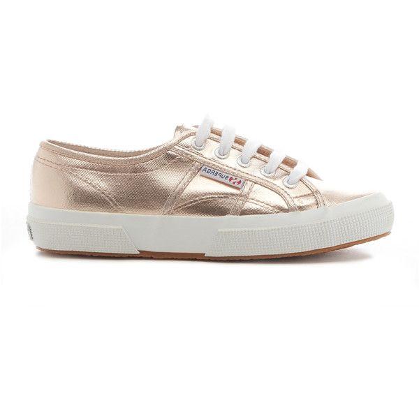 b2c20e0574a Superga 2750 Cotmetu Metallic Sneaker ( 79) ❤ liked on Polyvore featuring  shoes
