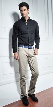 Can't go wrong with a simple black shirt | Office Outfits for Him ...