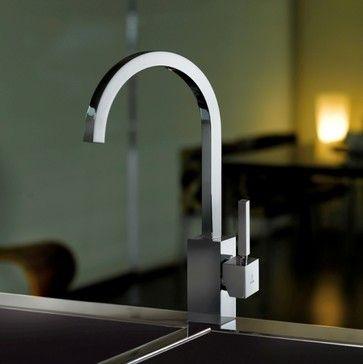 Domino Kitchen Sink Faucet - contemporary - Kitchen Faucets - mitigeur cuisine avec douchette extractible