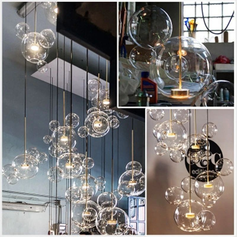 Artistic Glass Bubble Chandelier