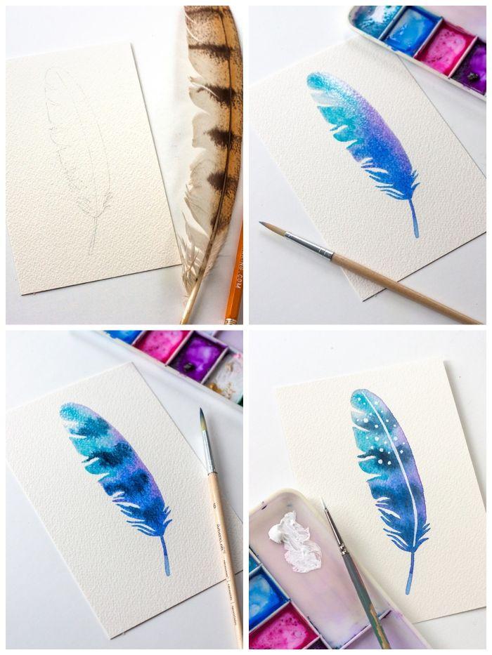 Aquarelle Et Gomme De Reserve Drawing Gum Watercolour Painting
