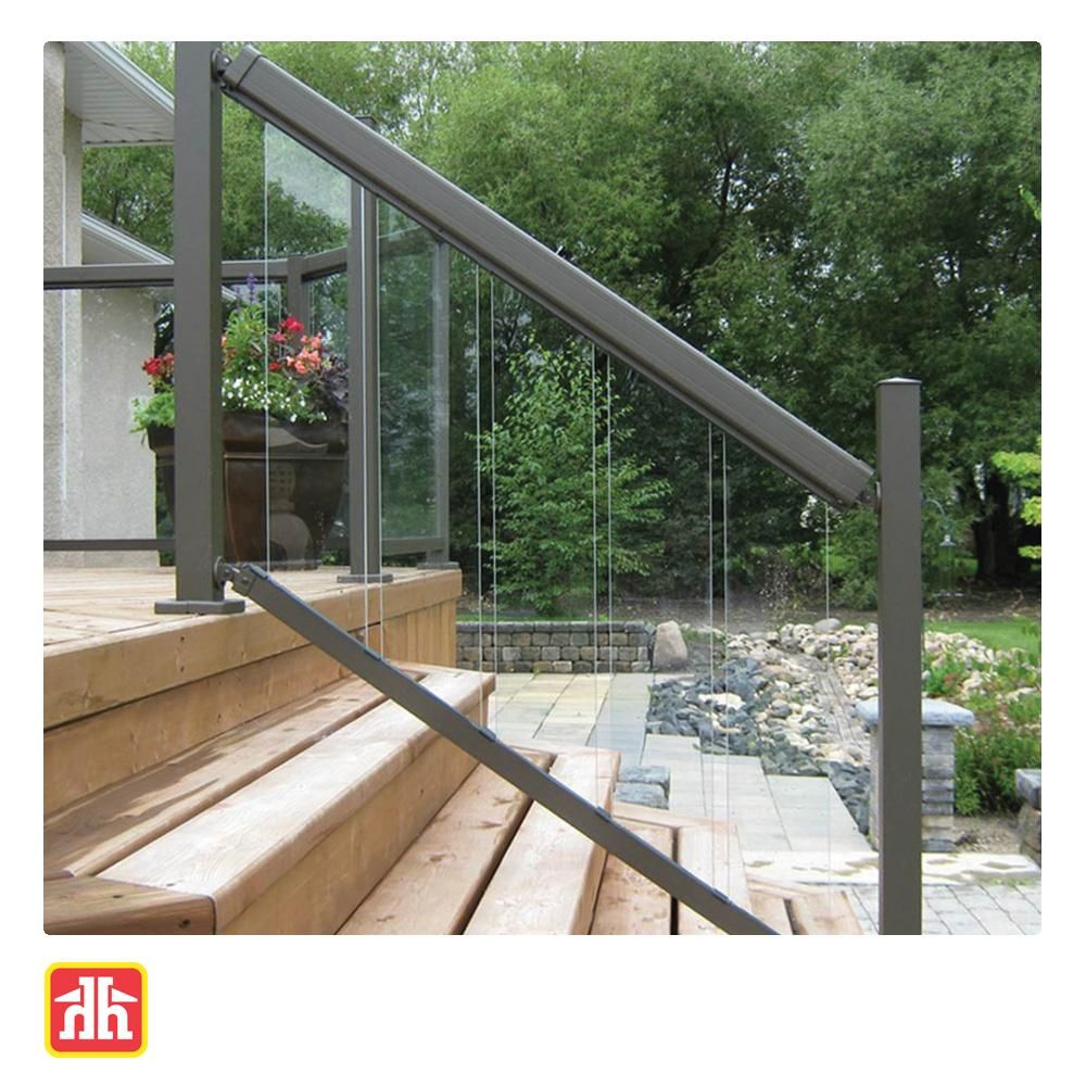 Glass Staircase Balustrade Kit: This 6-piece Clear Tempered Glass Insert Kit For Aluminum