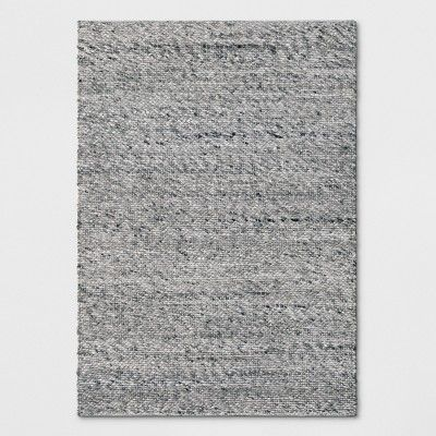 Gray Chunky Knit Wool Area Rug 5 X7 Project 62