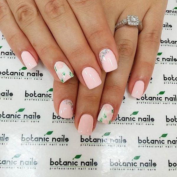 light pink nail art designs - Light Pink Nail Art Designs - To Bend Light