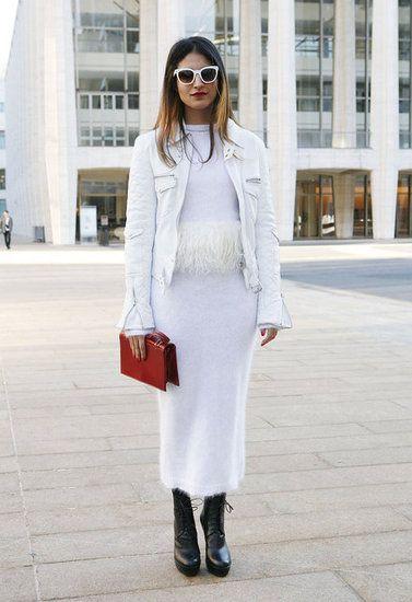 New York Fashion Week Fall 2012 Street Style , White