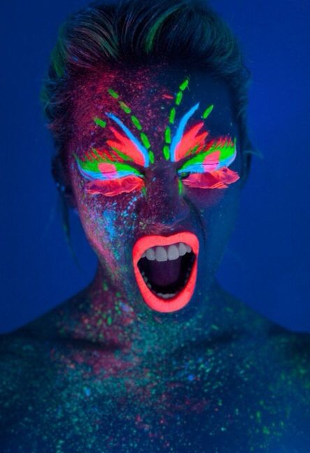 Glow In The Dark Body Paint ...XoXo | Neon Run | Pinterest | Body Paint Dark And Bodies